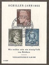 1950 DDR Schiller SG MSE212a Used (Cat £38)
