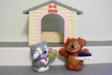 Fisher Price Loving Family Dog House LOT CAT & DOG & HOUSE KITTY & PUP PLAYSET