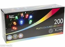 200 Multi Colour Coloured Led Xmas Christmas Fairy Tree Lights - multi action