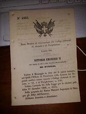 REGIO DECRETO 1868 convocazione dei collegi elettorali di ANCONA e PIZZIGHETTONE