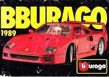 Burago 1989 Mini Catalogue
