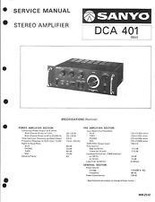 Sanyo Service Manual für DCA 401