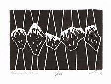 Hängende Steine original Holzschnitt - Franz Grickschat Nr 384 signiert