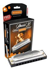 HOHNER Special 20 Harmonica, Key of F#, Made in Germany, Includes Case, 560BL-F#