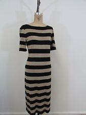 NWT!!  JONES NEW YORK Black/Gold Short Sleeve Sweater Dress-Size L