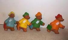 Set of PADDINGTON soft vinyl bears toys dolls