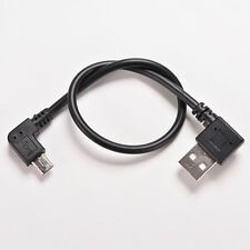 Hot USB 2.0 OTG Male to 90 Degree Angled Micro USB Male Cable Cord Adapter IJ