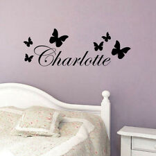 Personalized Butterfly Vinyl Wall Sticker Any Name Bedroom Art Decal Decoration