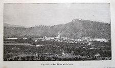 stampa antica old print veduta SAN PIETRO AL NATISONE UDINE 1899