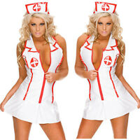 MM SEXY WOMAN LADIES SEXY NAUGHTY NURSE COSTUME HEN DOO FANCY DRESS PARTY OUTFIT