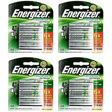 16pcs Energizer Rechargeable AA NiMH 2300 mAh Recharge Extreme Battery NEW