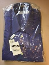 NWT Mondo Di Marco Made Italy Solid Blue 16-41 32/33 Dress Shirt