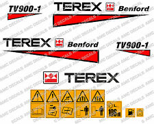 TEREX BENFORD TV900 ROLLER DECALS STICKERS