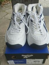 NOS Vintage 90s Reebok Classic BB4600 High top White/Navy US Size 7 1/2 NIB Box