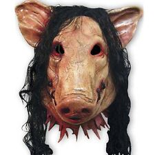 Adult Saw Pig Head Creepy Mask Cosplay Halloween Fancy Dress Accessories Costume