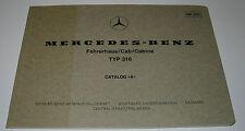 Ersatzteilkatalog Mercedes Unimog Typ 316 Fahrerhaus Cab Cabine Stand Juli 1978!