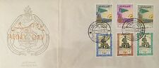 Iraq stamps-FDC-1961 ARMY DAY-General KASSEM-complete Set of 6 Stamps