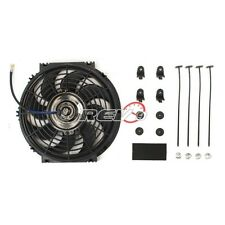 "2 X Black 10"" Inch Electric Radiator Slim Fan S Blade Set Cooling Universal"