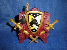 Ritter Waffenständer Schild Morgenstern goldene Schwerter unbespielt top