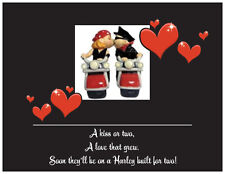 20  WEDDING BRIDAL SHOWER Invitations HARLEY Motorcycle Couple Cards Post CARDS