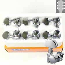 Schaller M6 Vintage tuners/machine Heads, 3x3 Chrome, 10110223