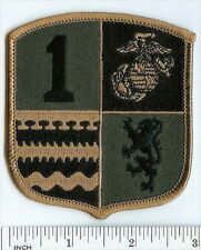 USMC 1st MLG subdued OD ! PATCH 1st Marine Logistics Group ! Marines support OIF