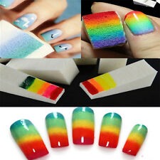 DIY Nail Art Sponge Stamp Transfer Template Polish Stamping Decor Manicure Tools