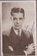 RAMON NOVARRO - Mexican Heart throb in Silents era - signed Vintage pic