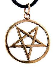 Pentagramm Anhänger Bronze Drudenfuß Satan Teufel schwarze Magie Hexe Pentacle