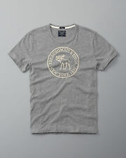 Abercrombie & Fitch A&F Men Heritage Logo Graphic Tee HEATHER GREY M