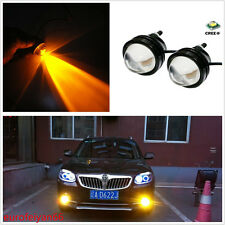 2 Pcs 12V Waterproof Yellow Cree LED Fisheye Car SUV DRL Fog Light Working Lamps