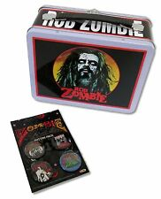 ROB ZOMBIE 2-PIECE SET: METAL LUNCH BOX & 4 BUTTON PACK - NEW COLLECTOR OFFICIAL