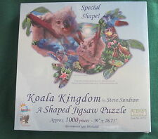 KOALA KINGDOM by Steve Sundram -1000 piece SunsOut SHAPED Puzzle - NEW