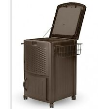 Beverage Cooler Cart Party Portable Deck Patio Ice Rolling Dry On Wheels Wicker