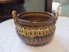 "Collectible Signed E-8263 Ornate Art Pottery Bowl 5 x 3 1/2""  3 Little Feet NICE"