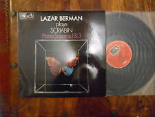SCRIABIN - PIANO SONATAS 1 & 3, LAZAR BERMAN, ASD 3396, 1977 DOG IN STAMP LP