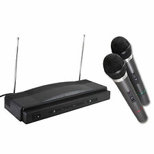 Set kit pack 2 Microfonos inalambricos + receptor wireless profesional Karaoke