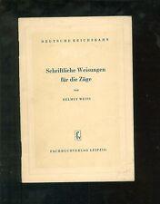 Schriftliche Weisungen für die Züge 1955