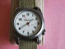 Nice Bertucci Solid Titanium Men's Military Watch w/Date