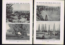 PICTURE STORY: Energy from Oil - Lakeview gusher  - 1925 Prints