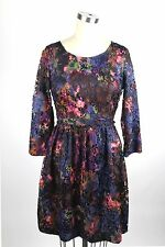 Catherine Malandrino floral lace dress sz 2