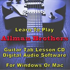 ALLMAN BROTHERS BAND Guitar Tab Lesson CD Software - 23 Songs