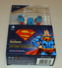 iHip Superman Earphones Microphone Volume Control Headphones Ear Head Phone DC