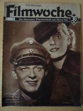 FILMWOCHE 03 - 19.1. 1938 R.Moebus Ingeborg Theek Magda Schneider Sascha Guitry