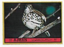 AJMAN - 1972 - MI. #1922 - Songbirds Series - WOOD THRUSH - MNH 1.25 UAE riyal