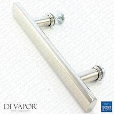 Di Vapor (R) 130mm Manija de la puerta de ducha | 13cm agujero para Agujero | Acero Inoxidable