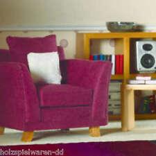 Dolls House 3621 Fauteuil anglais violet Tissu/Bois 1:12 pour maison de poupée #