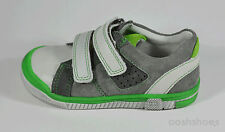Richter Boys Grey Suede Leather Velcro Trainers UK 5.5 EU 22 US 6 0111 RRP £39
