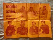 CARTEL POSTER GRUPO MUSICAL: ÁNGELES AZULES AÑOS 79