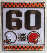 CLEVELAND BROWNS 60th Anniversary NFL TEAM PATCH STAT CARD Willabee & Ward 2006